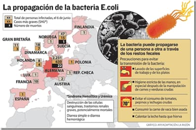 distribucion escherichia coli
