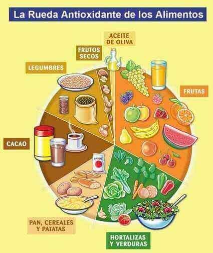 rueda de antioxidantes