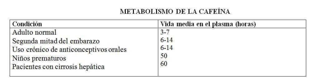 Metabolismo de la cafeina