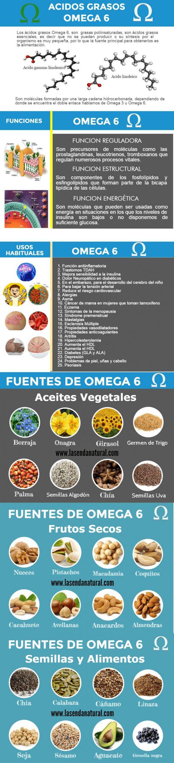 Fuentes de omega 6