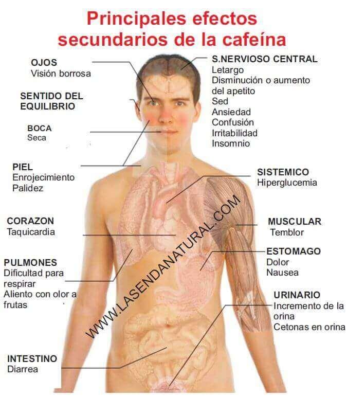 efectos secundarios cafeina