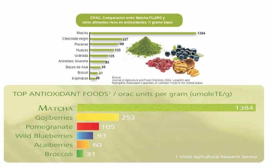 tabla de antioxidantes